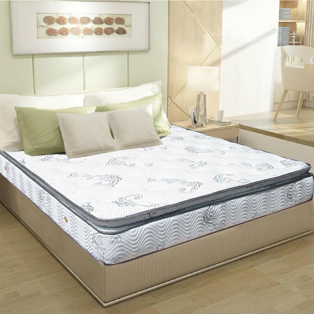 AVIS艾維斯 銀河之星舒柔布五段式正三乳膠獨立筒床墊-雙人加大6尺