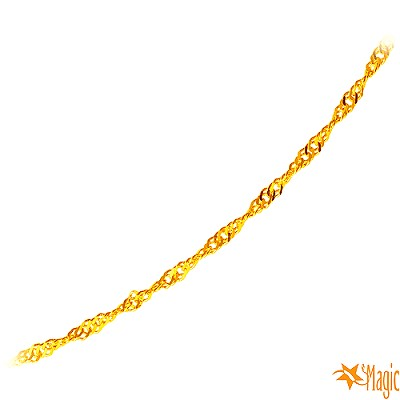 Magic魔法金 幸福波紋黃金項鍊 (約 0 . 55 錢)