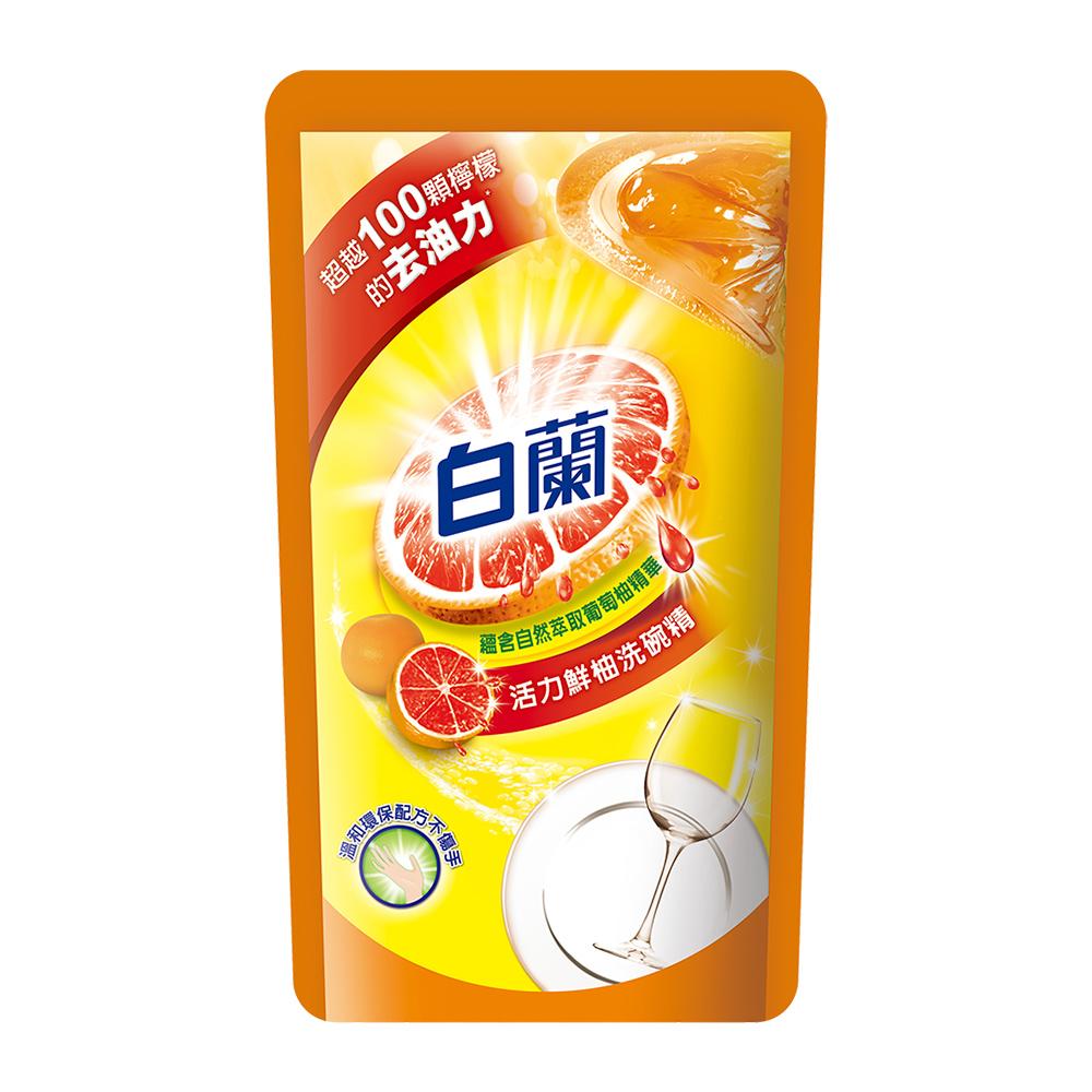 白蘭 全新動力配方洗碗精補充包-鮮柚(800g*12入/箱)