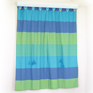 《布安於室》色塊純棉窗簾-藍色