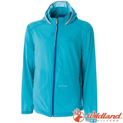 Wildland 荒野 0A51992-47藍綠 男 彈性17D超輕抗UV外套