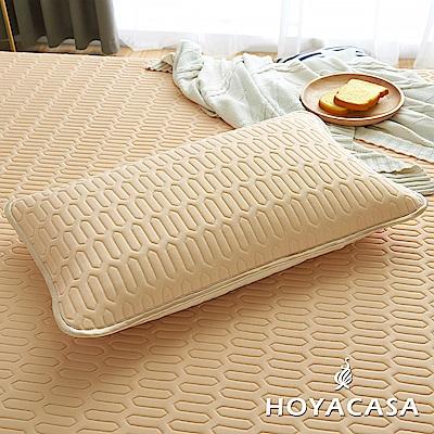 HOYACASA創新可水洗乳膠透氣枕套(舒適米)
