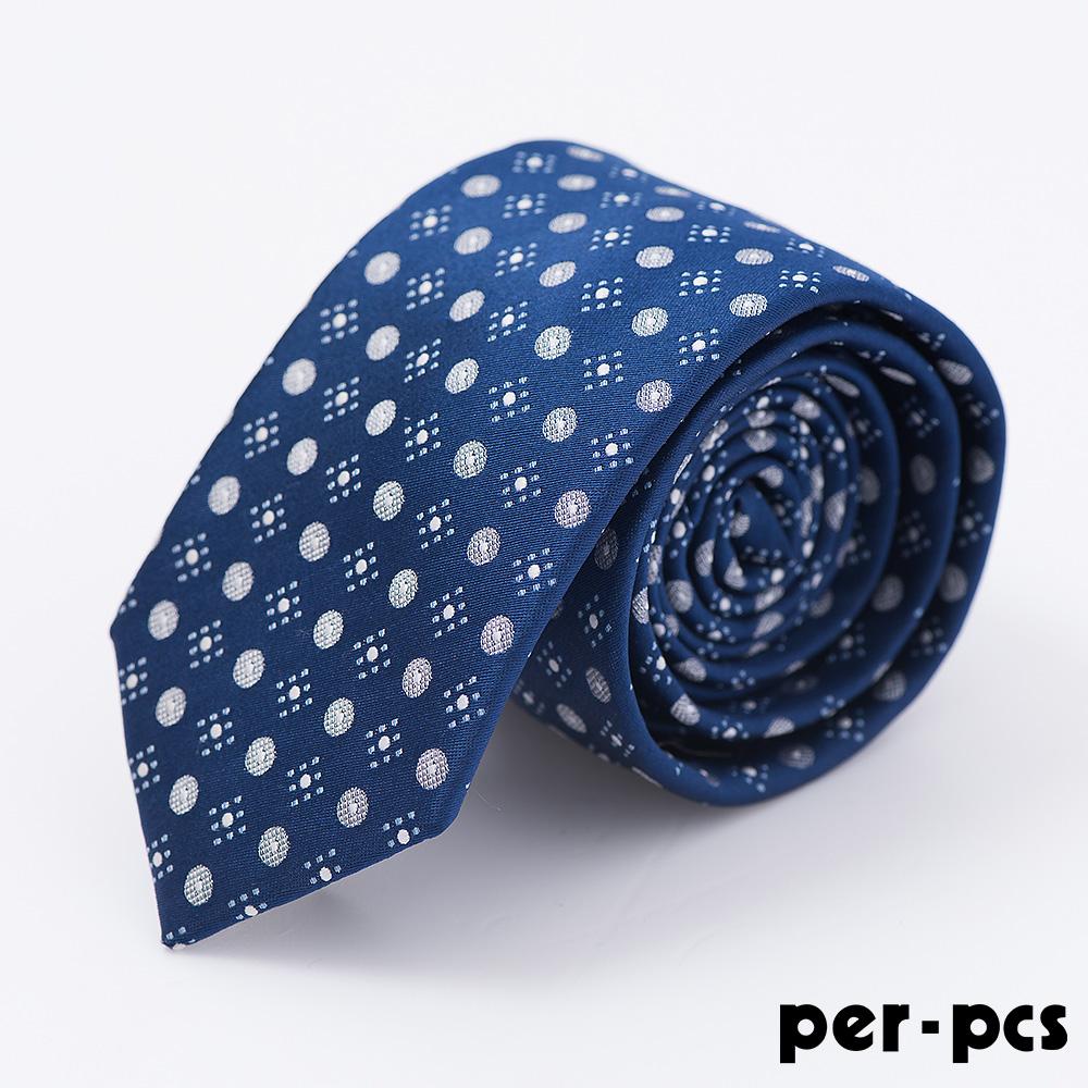 per-pcs 時尚紳士雅痞領帶_籃底點點(714017)