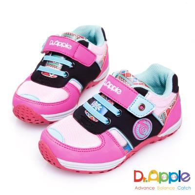 Dr. Apple 機能童鞋 印第安圖騰復古拉風童鞋款 粉