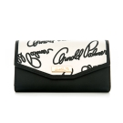 Arnold Palmer- 翻蓋式長夾 Graffiti 黑白塗鴉系列-黑白