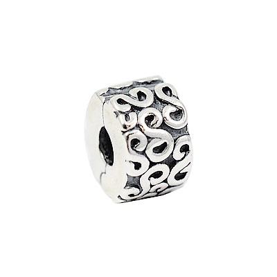 Pandora 潘朵拉  水波紋 純銀固定扣
