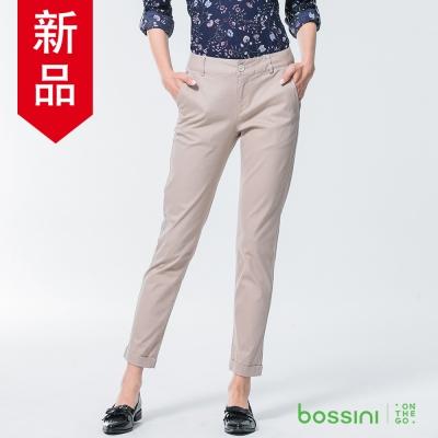 bossini女裝-彈力修身褲05淺卡其
