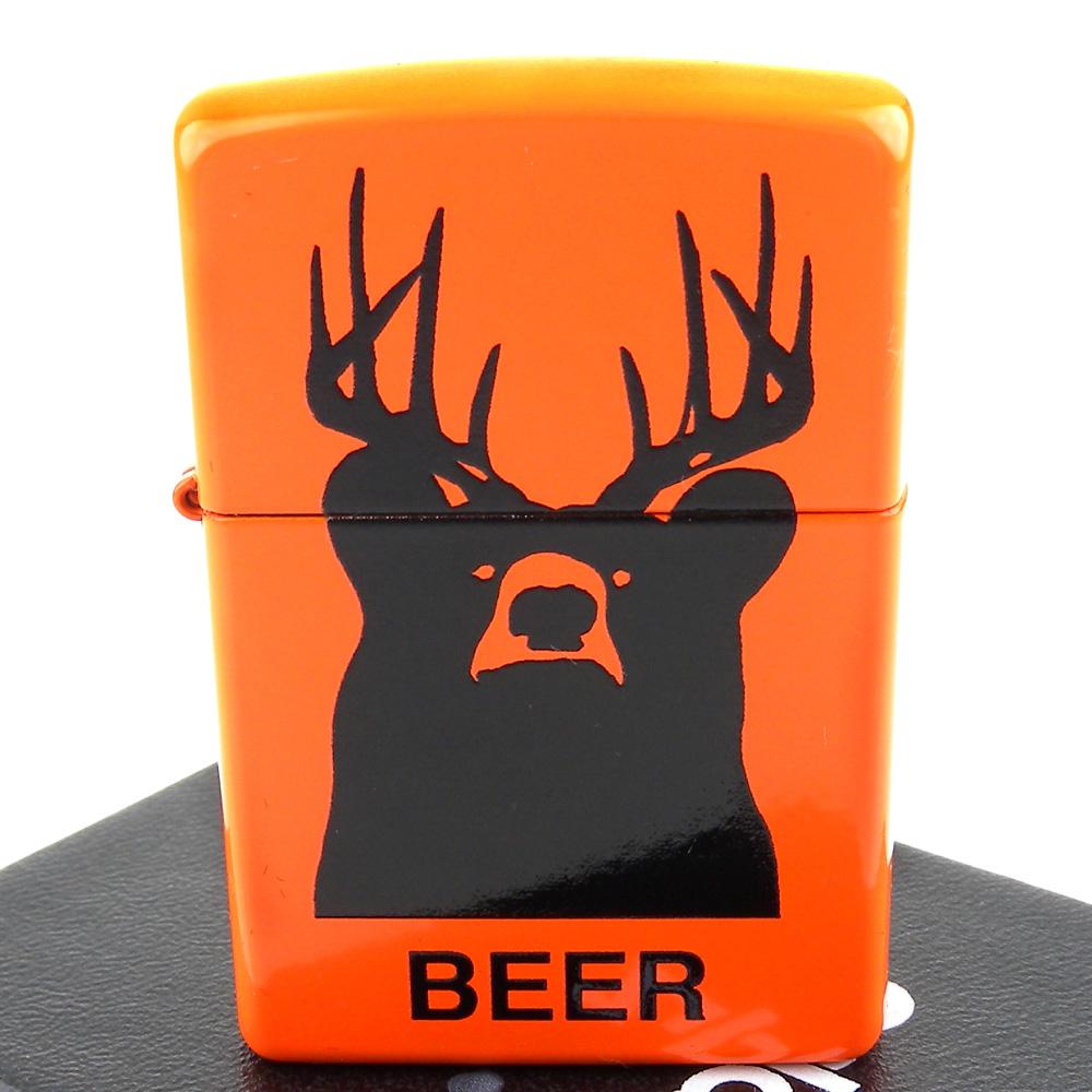 ZIPPO 美系~Deer? Bear? Beer!-鹿頭熊圖案設計