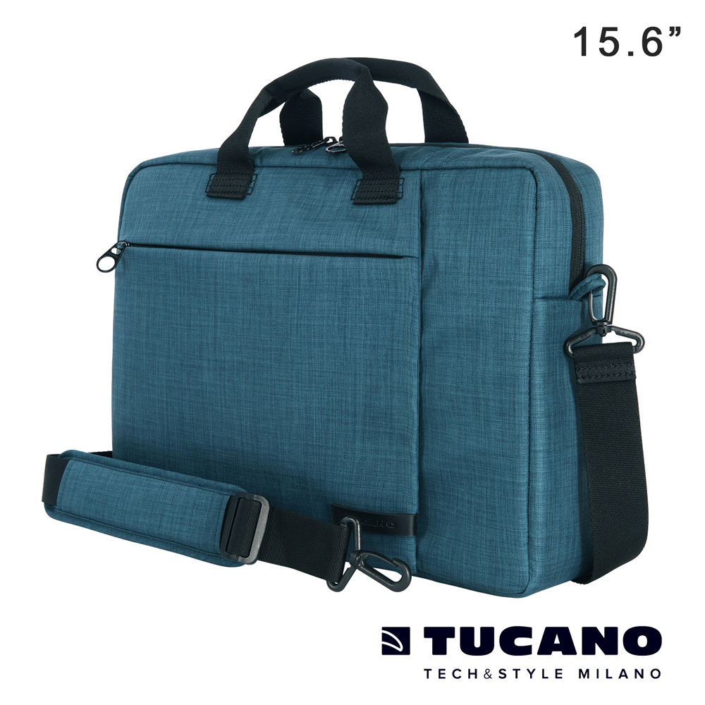 TUCANO SVOLTA 15.6吋都會風尚側背包-藍