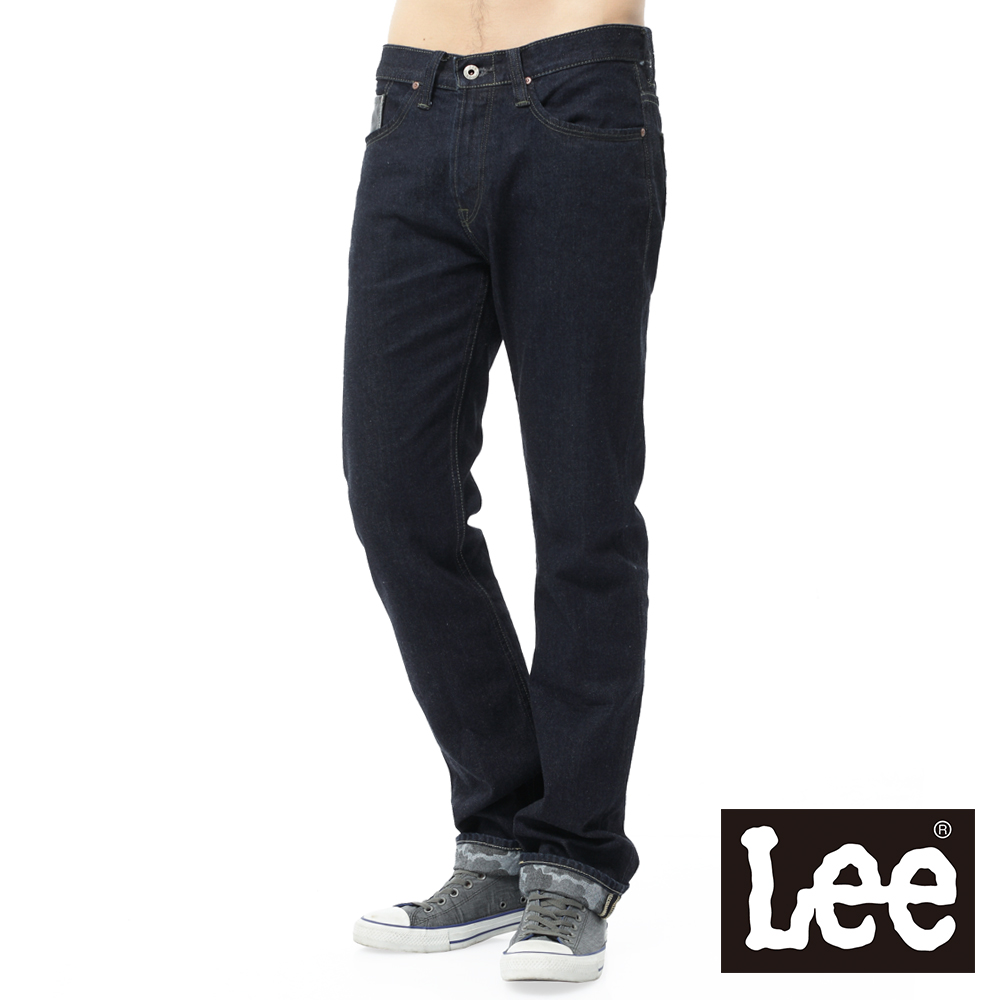 Lee 101+牛仔褲 724 中腰標準直筒-男款(深藍)