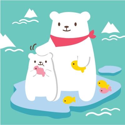 LOVIN 超萌韓版數字油畫 可愛北極熊(3) 1幅
