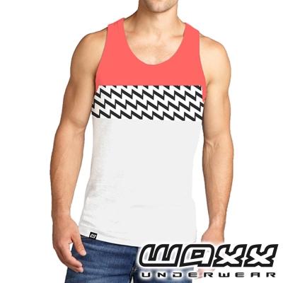 WAXX 經典系列-雙色吸濕排汗男性運動休閒背心
