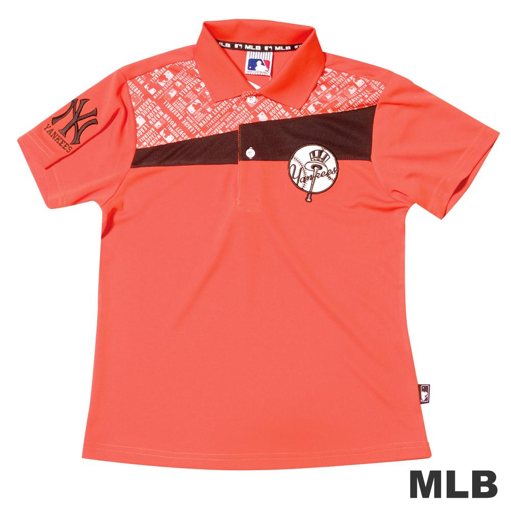 MLB-紐約洋基隊排汗舒適POLO衫-桔男童