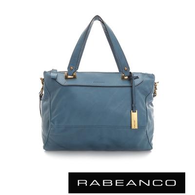 RABEANCO-OL-時尚粉領系列菱形包-中-天藍