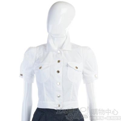 BLUGIRL-Folies 白色紅心款排釦上衣
