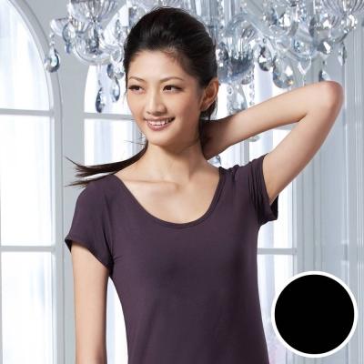華歌爾 涼爽衣 M-LL小蓋袖款式(時尚黑)