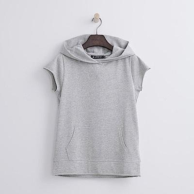 Hang Ten - 女裝 - 純色連帽運動衫-灰色