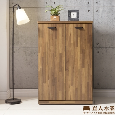 日本直人木業-STYLE積層木80CM兩門鞋櫃(80x35x120cm)