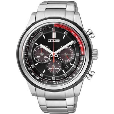 CITIZEN 光動能 舞動青春計時腕錶(CA4034-50F)-黑/44mm