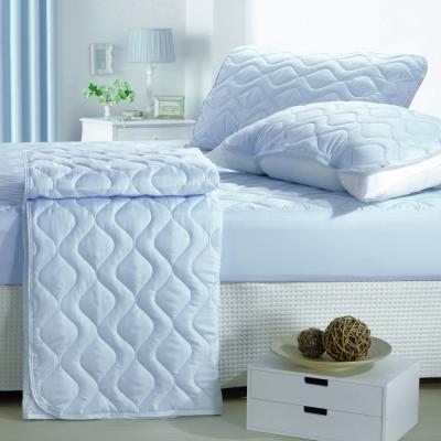 eyah宜雅 製純色加厚舖棉保潔墊床包式單人~迷情藍