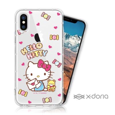 Hello Kitty iPhone X 彩繪空壓手機殼 - 糖果熊熊