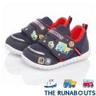 三麗鷗THE RUNABOUTS 輕量透氣抗菌減壓休閒童鞋 藍