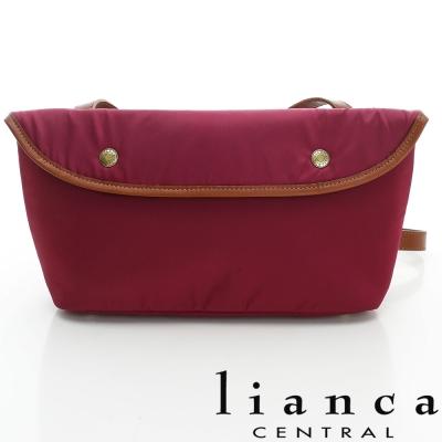 lianca 純手工製LIMONTA相機包(中) 紫紅