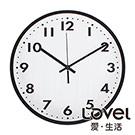 【限時優惠】Lovel 30cm 黑白膠卷靜音機芯掛鐘(P300W-BK)