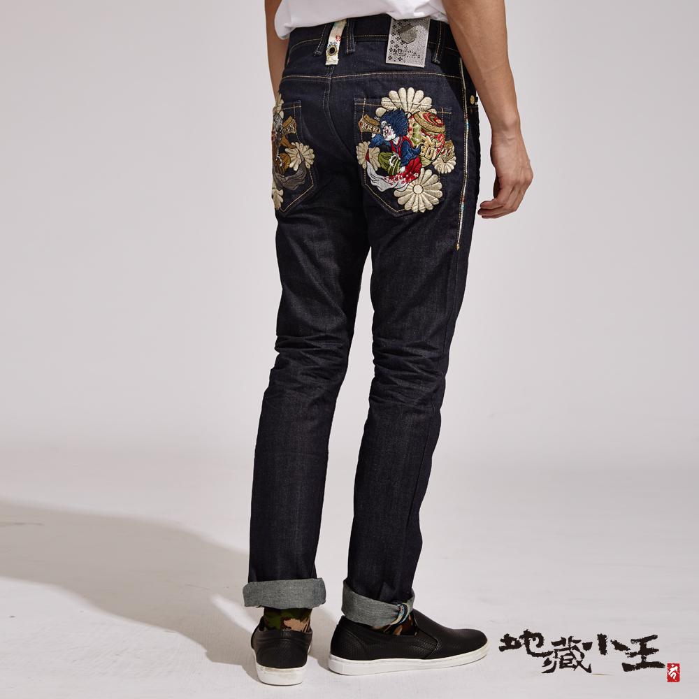 地藏小王 BLUE WAY  (柒周年典藏褲)善惡福槌低腰直筒褲