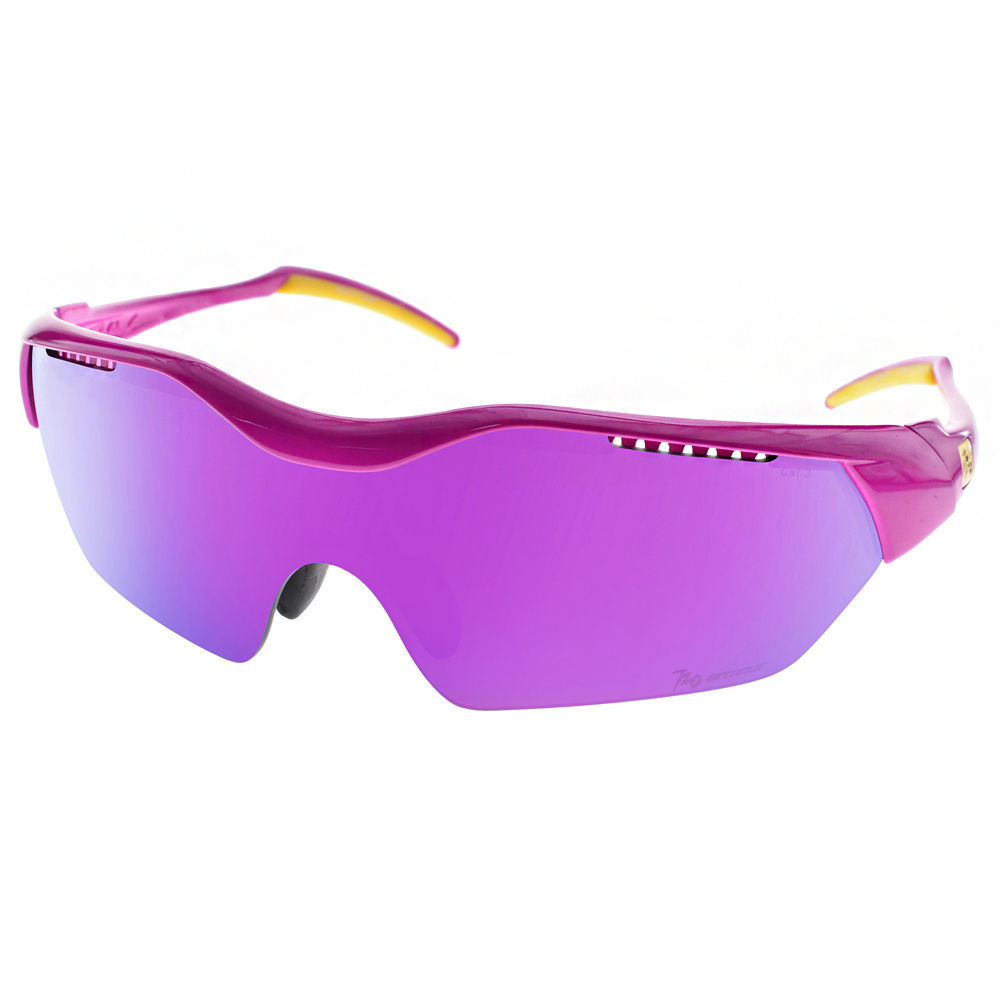 720運動太陽眼鏡 最受歡迎單車風鏡款/亮紫桃-灰紫水銀#720T948 C28