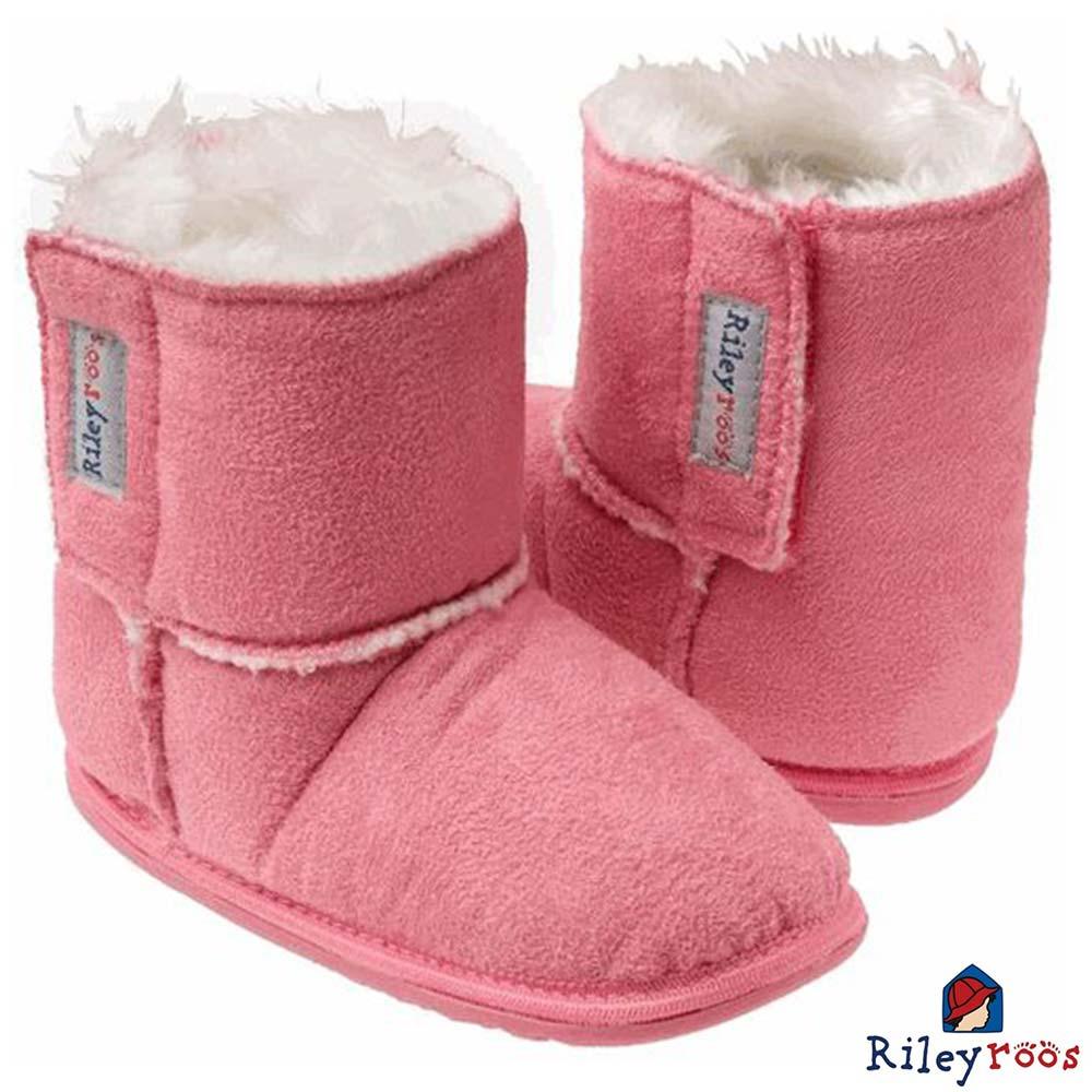 Rileyroos 美國手工童鞋學步鞋-Caters粉紅色小靴子