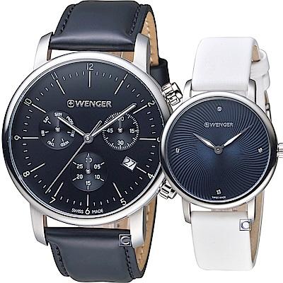 瑞士WENGER Urban 現代都會經典對錶(011743102+011721106)