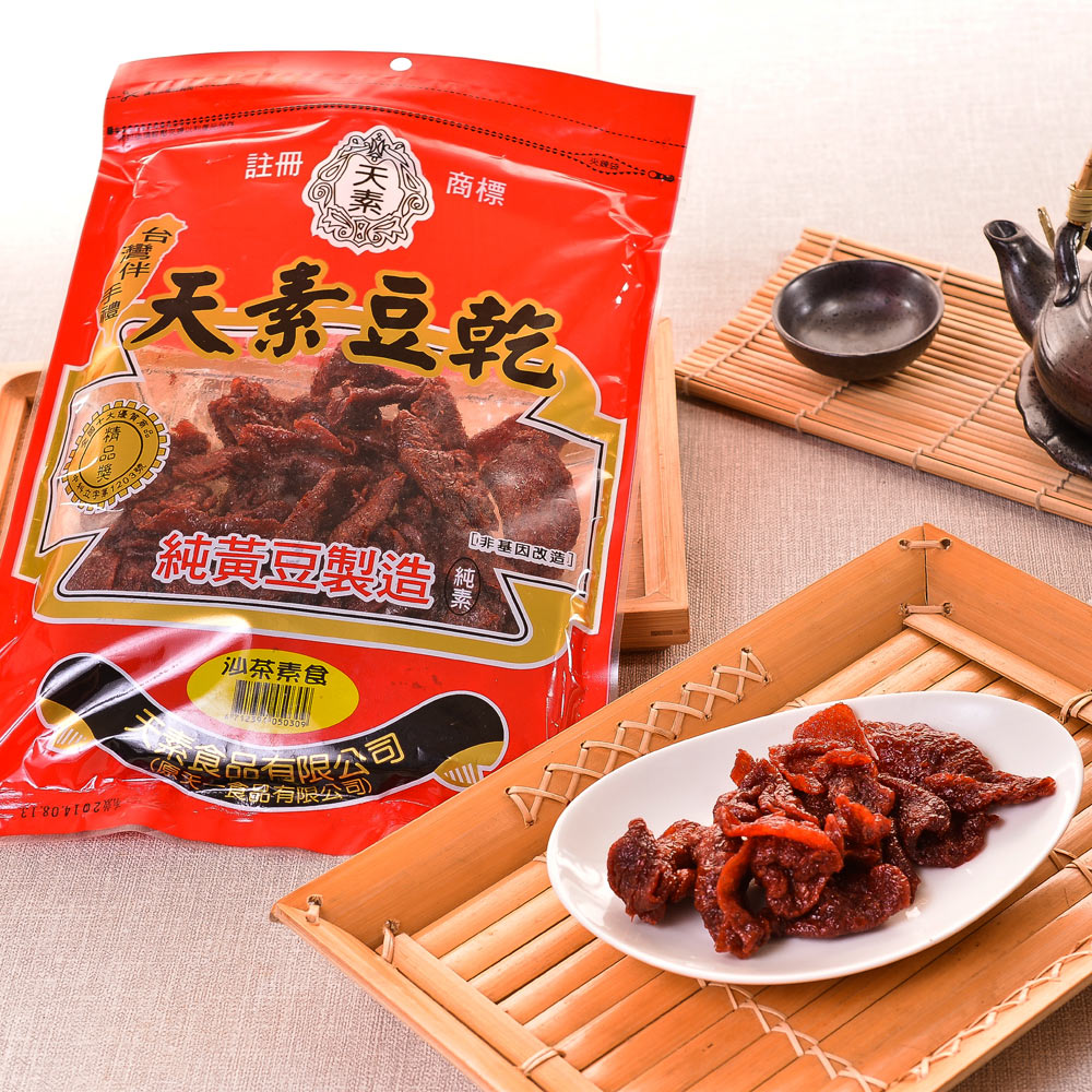 得福 天素豆乾 沙茶豆乾 3包 (380g/包)
