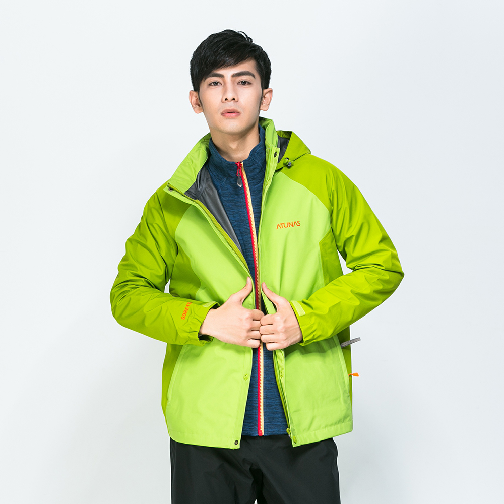 【ATUNAS 歐都納】男款防水GORE-TEX單件式外套A3-G1515M綠橄欖