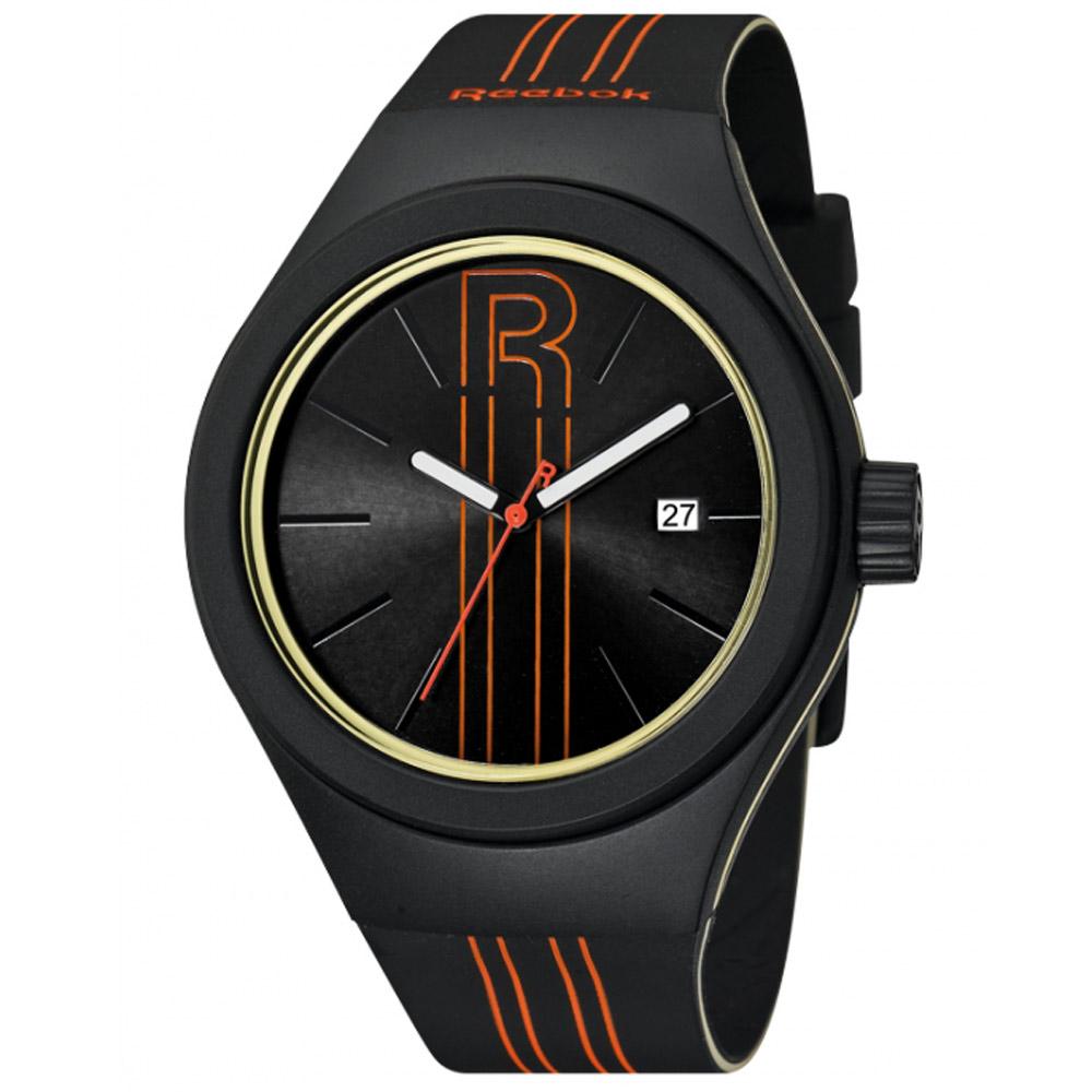 Reebok Rush系列 極限光速時尚腕錶-橘線x黑/42mm