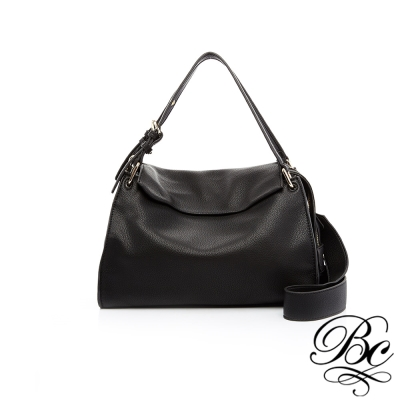 BELLUCY 巴黎時尚柔軟手提側背包(經典黑)