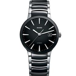 RADO Centrix 晶萃系列時尚機械錶-黑/38mm