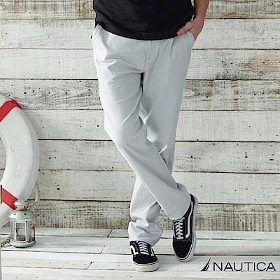 Nautica 經典款修身直筒長褲 -淺灰