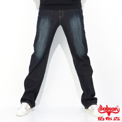 BOBSON 男款熱感IN保暖直筒牛仔褲