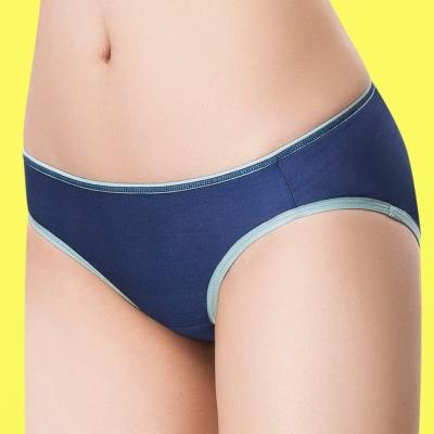嬪婷 陽光運動系列 M-LL 低腰平口褲(有氧藍)