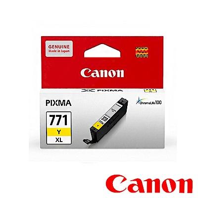 Canon CLI-771XL Y 原廠黃色高容量墨水匣