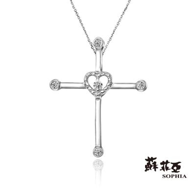 蘇菲亞SOPHIA-鑽石項鍊-愛的信念鑽鍊-共2色