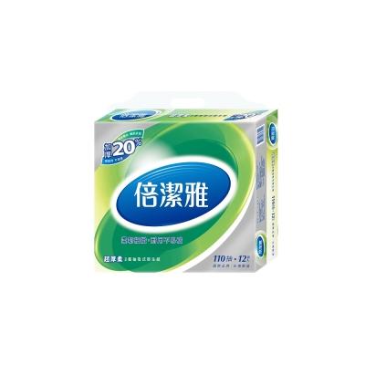 (買就送體驗包)倍潔雅 超厚柔抽取式衛生紙110抽x12包/串