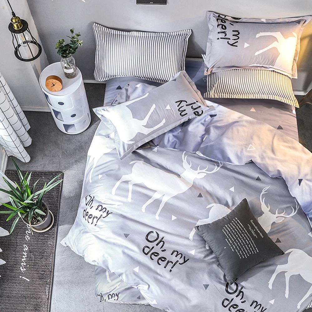 A-one 單人床包+枕套一入 秘密森林 雪紡棉磨毛加工處理