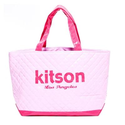 Kitson 漆皮菱格紋托特包 L-PINK
