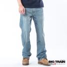 BIG TRAIN 低腰打釘配線垮褲-男-淺藍