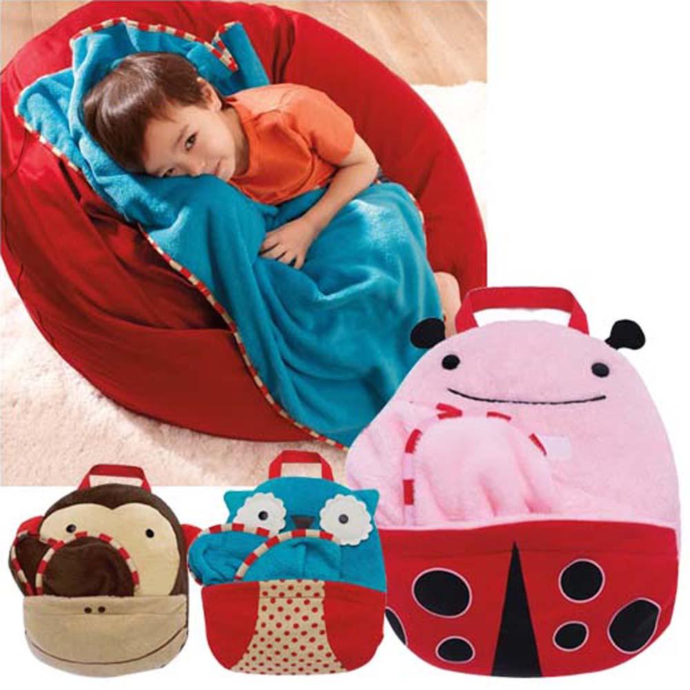 DF 親子館 - 可愛動物造型兒童旅行毯/浴巾 - 瓢蟲