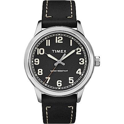 TIMEX 天美時 風格系列 極簡手錶-黑色/40mm