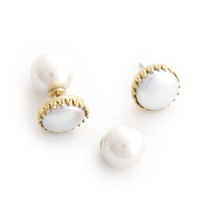 Luce Costante bianco系列珍珠耳環