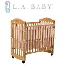 【美國 L.A. Baby】蒙特維爾嬰兒床-超值優惠組合(嬰兒床+粉色純棉五件式寢具組